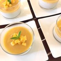 パンナコッタ・桃のソース - 玄米菜食 in ニュージャージー