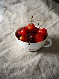 真っ赤なさくらんぼ&カラフルな夏野菜の揚げ浸し - Kitchen diary