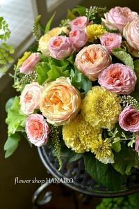 開店の御祝に♪フラワーアレンジメント。 - 花色~あなたの好きなお花屋さんになりたい~