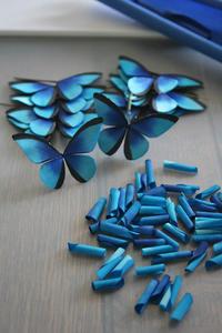 モルフォ蝶をまた作る - 布の花~花びらの行方 Ⅱ