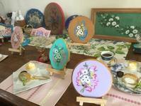 お試しレッスンフォークアート - coco diary 山口県 お花と絵と楽しいティータイム