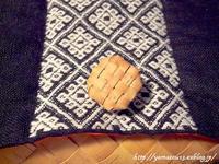 自宅使い編みボタンを蓋に取り付ける - ロシアから白樺細工