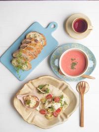ピンクのスープの朝ごはん - 陶器通販・益子焼 雑貨手作り陶器のサイトショップ 木のねのブログ