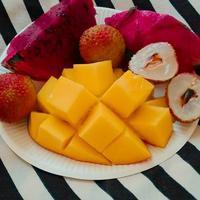朝食は台湾フルーツ。 - ななるいるぎ