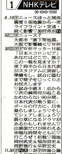 日本の歴史的勝利とテレビ視聴率99.6%,ワールドカップサッカー - 楽餓鬼