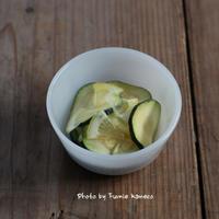 さわやかズッキーニのレモンマリネ - ふみえ食堂  - a table to be full of happiness -
