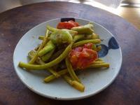 ニンニクの芽とそら豆、プチドライトマトの炒め物 - LEAFLabo