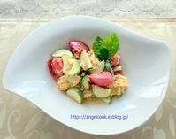 夏野菜と卵の炒めもの - 天使と一緒に幸せごはん
