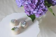 練り切りの紫陽花 - Chamomile