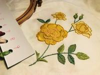 バラの刺しゅうを始めました - y-hygge
