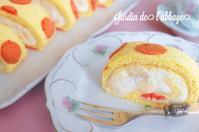 桃のロールケーキ - 「jardin de l'abbaye 」お菓子ブログ