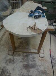 ローテーブル天板を加工始めます。 - 手作り家具工房の記録