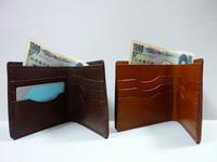 カード 6 + 紙幣 = 二つ折り財布プレゼントに! - 革小物 paddy の作品