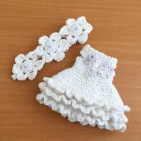 22センチドールの夏ワンピセット - 編み好き@amiami通信