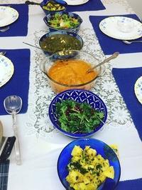 インド料理レッスンの準備 - Blue Lotus