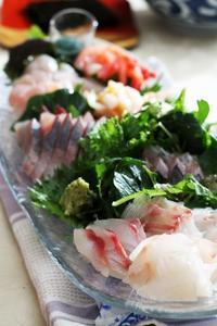 輪島の魚で手巻きおすし(^^♪ - 登志子のキッチン