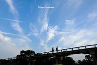 夏至の日の蓬莱橋 - 長い木の橋