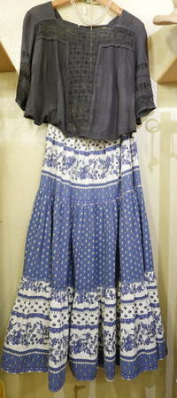 Coodinate French provence skirt - carboots