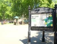 ロンドン市内中心最大級のプレイグランド Coram's  Fields - タワーブリッジの麓より