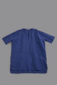 jujudhau KEY NECK SHIRTS (L/C BLUE) - un.regard.moderne