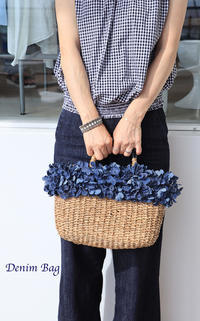 Denim Flower Bag - Le vase*  diary 横浜元町の花教室