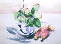 何かの実とミョウガ - ryuuの手習い