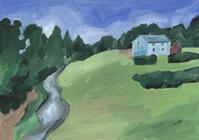 今日の絵「小川のある景色」 - vogelhaus note