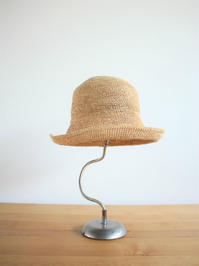Ohminami YukariRaffia Hand Knitted Cloche Hat (products for us) - 『Bumpkins putting on airs』