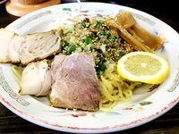 新宝楽@米子 ★ (レモンとオリーブオイルの冷たい麺+半チャーハン) - 麺ある記 山陰 ~ラーメンの旅~