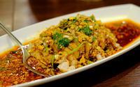 「西永福 香港料理 蘭のよだれ鶏、茄子の塩コショウ風味」 - じぶん日記