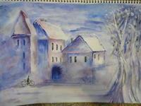 雪の朝 - Mon atelier