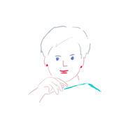 かっこいいマダム - イラストレーション ノート