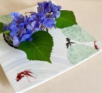 金魚の絵皿 - 赤煉瓦洋館の雅茶子