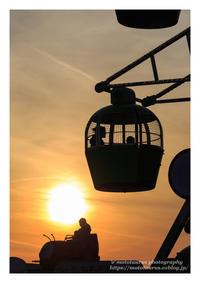 夕暮れ時の屋上遊園地 - ♉ mototaurus photography