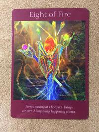 月曜のメッセージ:エンジェルタロットカード「Eight of Fire」大天使ミカエルからのメッセージ - アトリエkeiのスピリチュアルなシェアノート