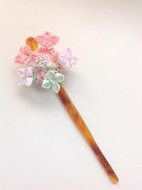 すずらんさんの「紫陽花スミダノハナビ」 - つまみ細工鶫屋(つぐみや)つれづれなるまま日記