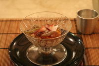 蛸の蓴菜ジュレかけ - ミセス サファイア 静けさの中で