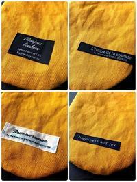 麻帆布の巾着袋×4 - 真夜中のひとりごと