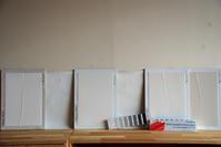色検討/左官仕上げ/方形の平屋/岡山 - 建築事務所は日々考える