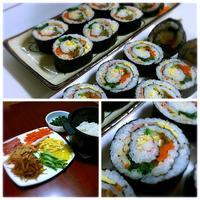 회오리김밥(フェオリキンパッ:渦巻き海苔巻き)&蕁麻疹 - キューニーの食卓