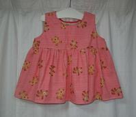 368.ベア柄のワンピース - フリルの子供服