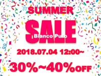 『SUMMER SALE』 のお知らせです ♪♪ - セレクトショップBianco Puro (ビアンコ プーロ)