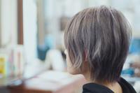 グレージュハイライト - 空便り 髪にやさしいヘアサロン 髪にやさしいヘアカラー くせ毛を愛せる唯一のサロン