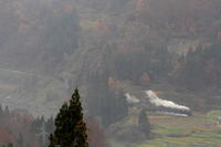 もやもやの向こうの煙 - 飯山線・2016年 - - ねこの撮った汽車