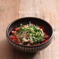 野菜たっぷり 冷しゃぶサラダ - ふみえ食堂  - a table to be full of happiness -