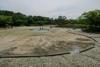 水がなかった日本庭園の池 - あだっちゃんの花鳥風月