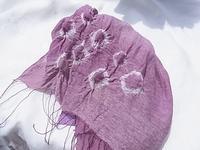 山葡萄の紫・シルクのスカーフ - 自然からの贈り物/草木染め