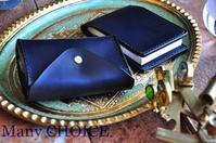 イタリアンレザー・エルバマット2つ折りコインキャッチャー財布とロディアメモ帳カバー - 時を刻む革小物 Many CHOICE~ 使い手と共に生きるタンニン鞣しの革