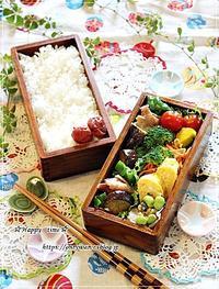 夏野菜炒め弁当と今夜も呑み♪ - ☆Happy time☆