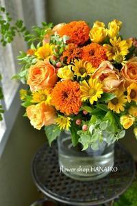 元気づけの贈り物♪ビタミンカラーの花束。 - 花色~あなたの好きなお花屋さんになりたい~